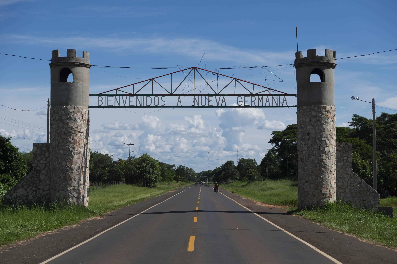 Nueva Germania entrance gate