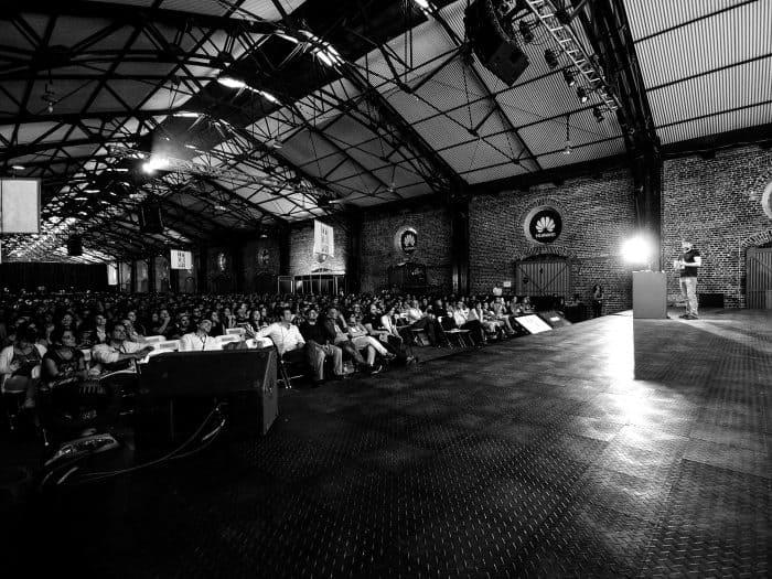 Joan Cornella speaking at 2015's FID.