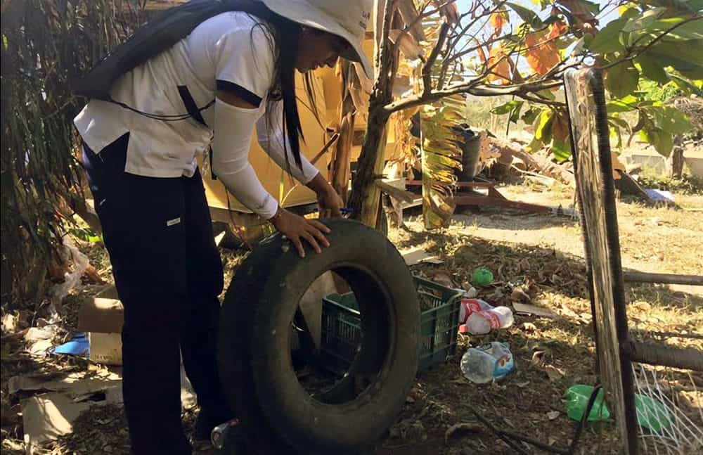 Inspections for mosquito-borne diseases in Guanacaste