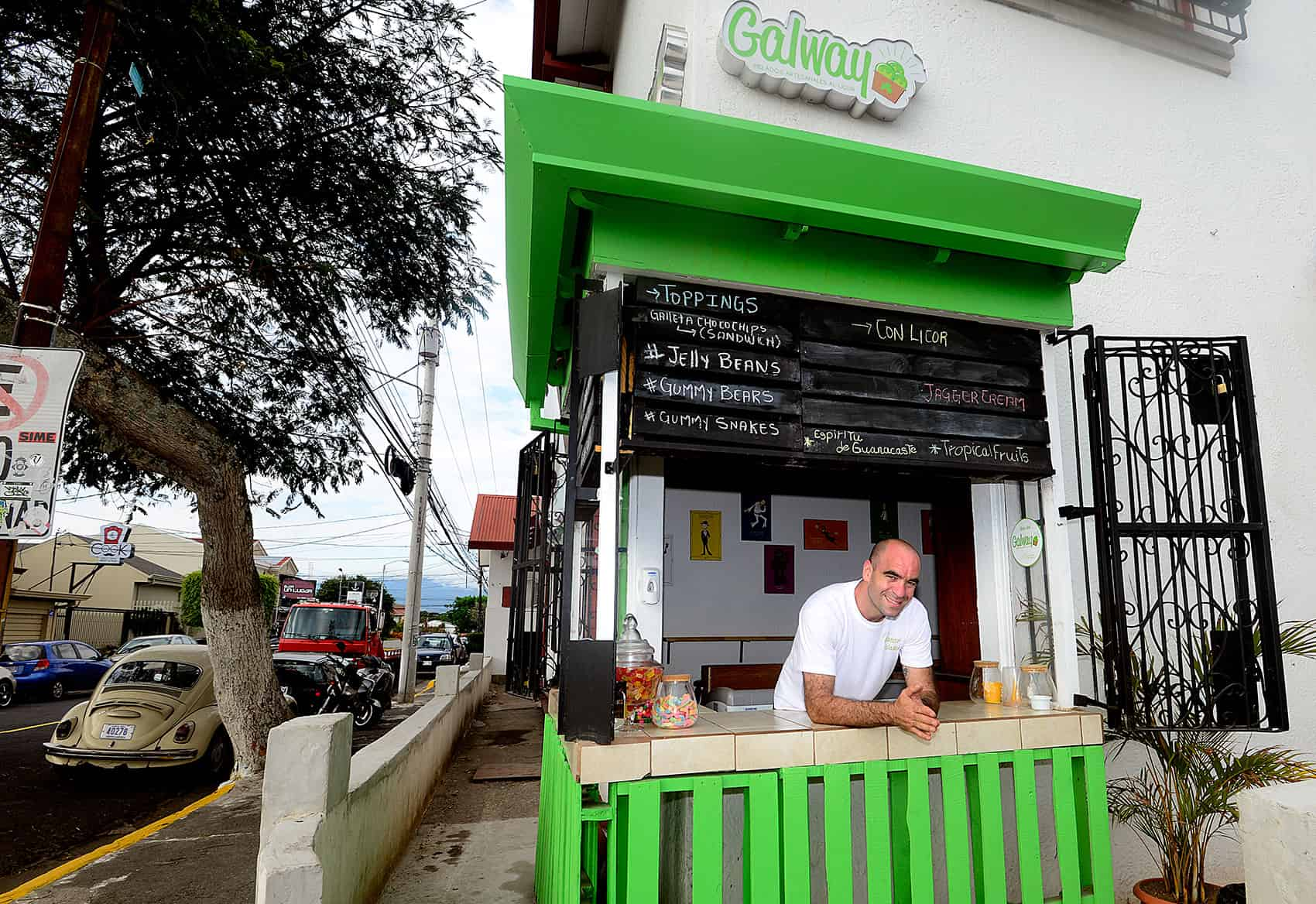 Costa Rica ice cream: Rodrigo Brenes at Galway