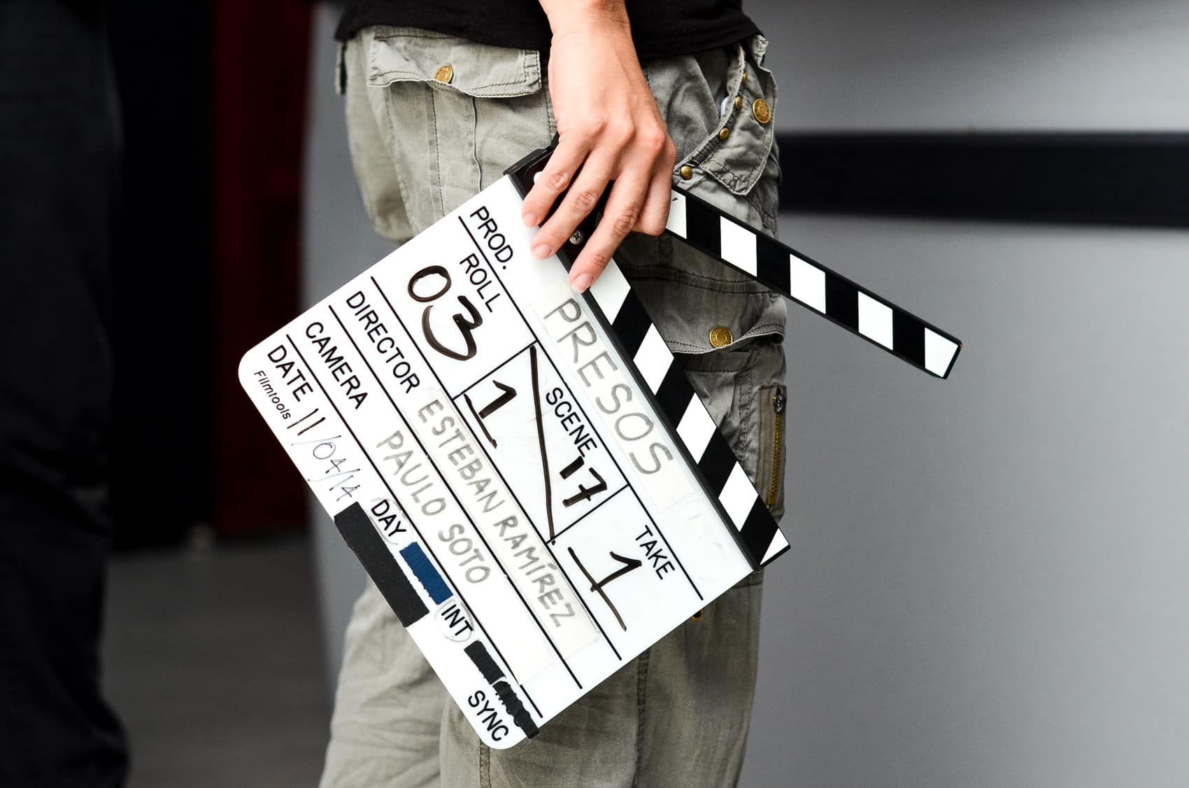 "A cut board on the set of ""Presos,"" 2015."