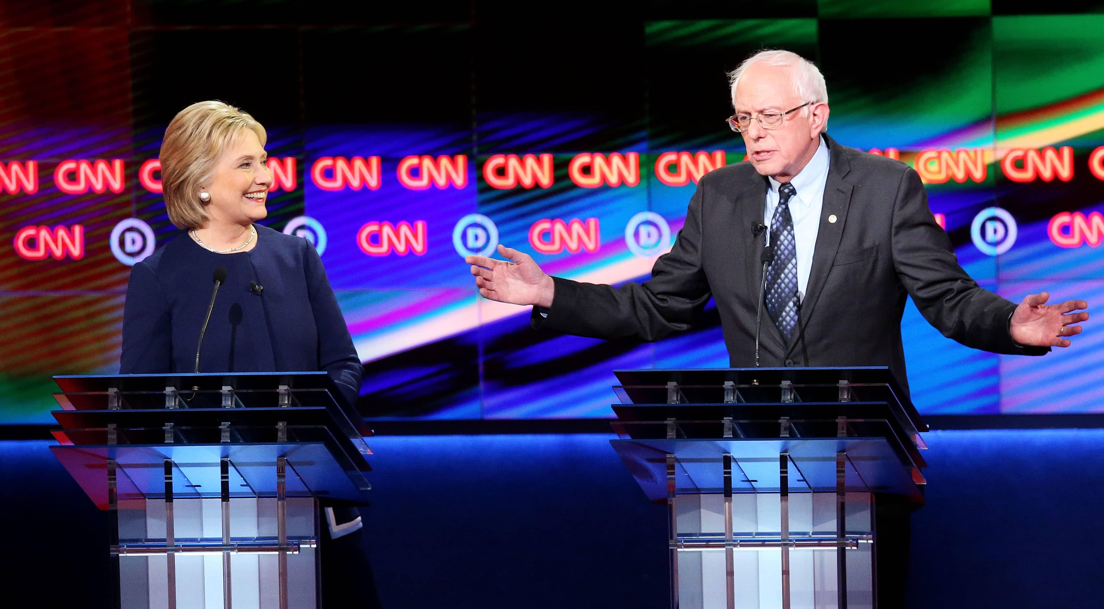 Democratic primaries: Hillary Clinton vs. Bernie Sanders in Flint debate