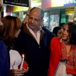 President Luis Guillermo Solís joins sexual harassment protest