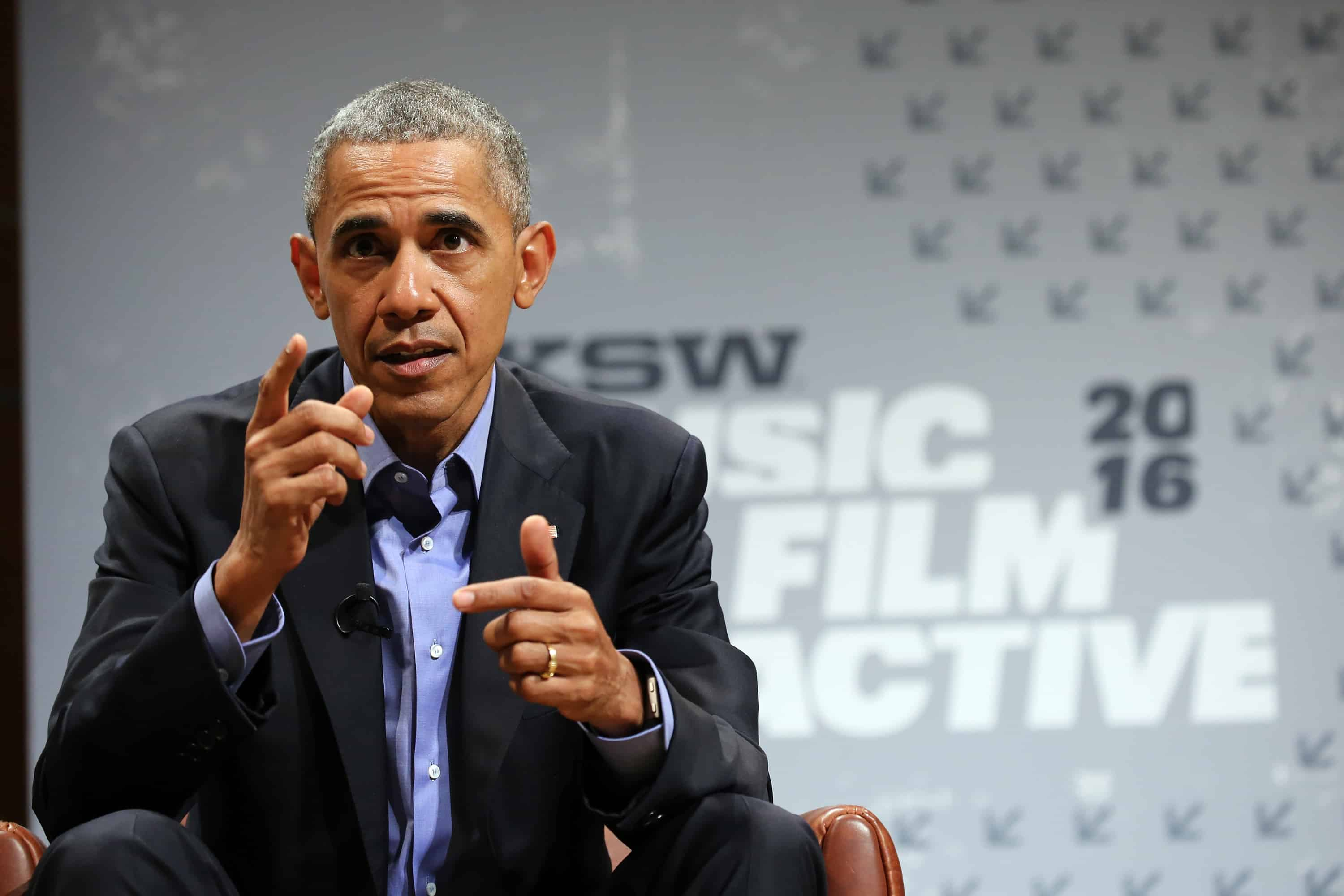 U.S. President Barack Obama speaks at the opening Keynote during the 2016 SXSW Music, Film + Interactive Festival