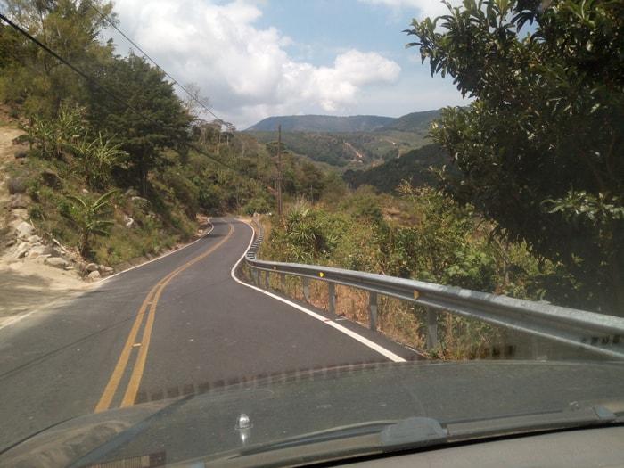 Arizona highways? No, but good road from Copey to Santa María de Dota.