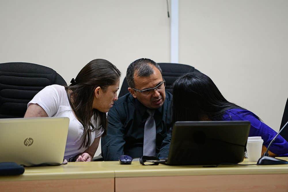 Judges in the second Jairo Mora homicide trial