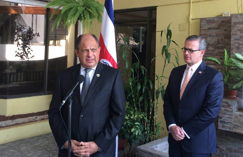 President Luis Guillermo Solis and Foreign Minister Manuel Gonzalez