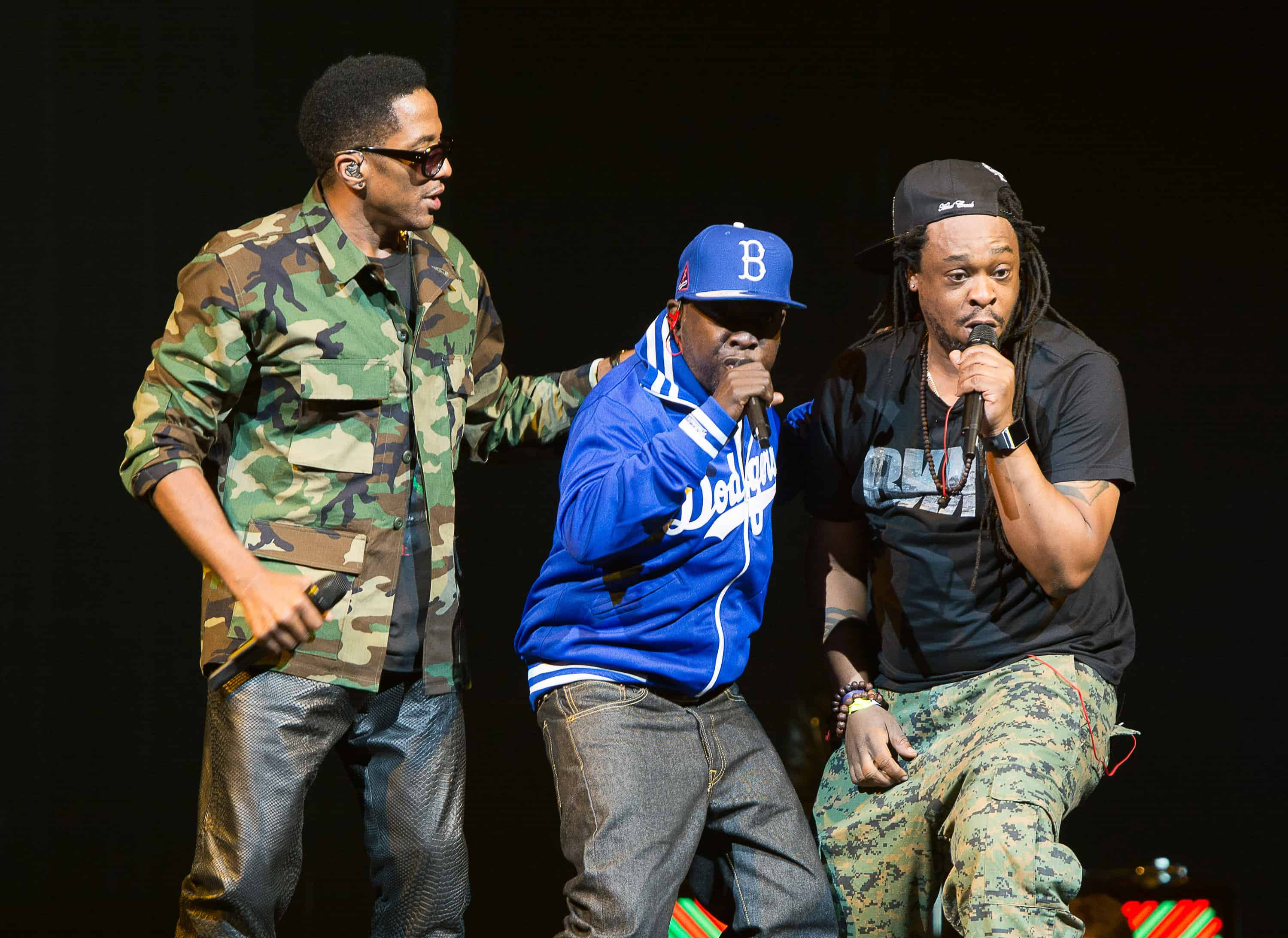 Hip hop masters Q-Tip, Phife Dawg and Jarobi White of A Tribe Called Quest