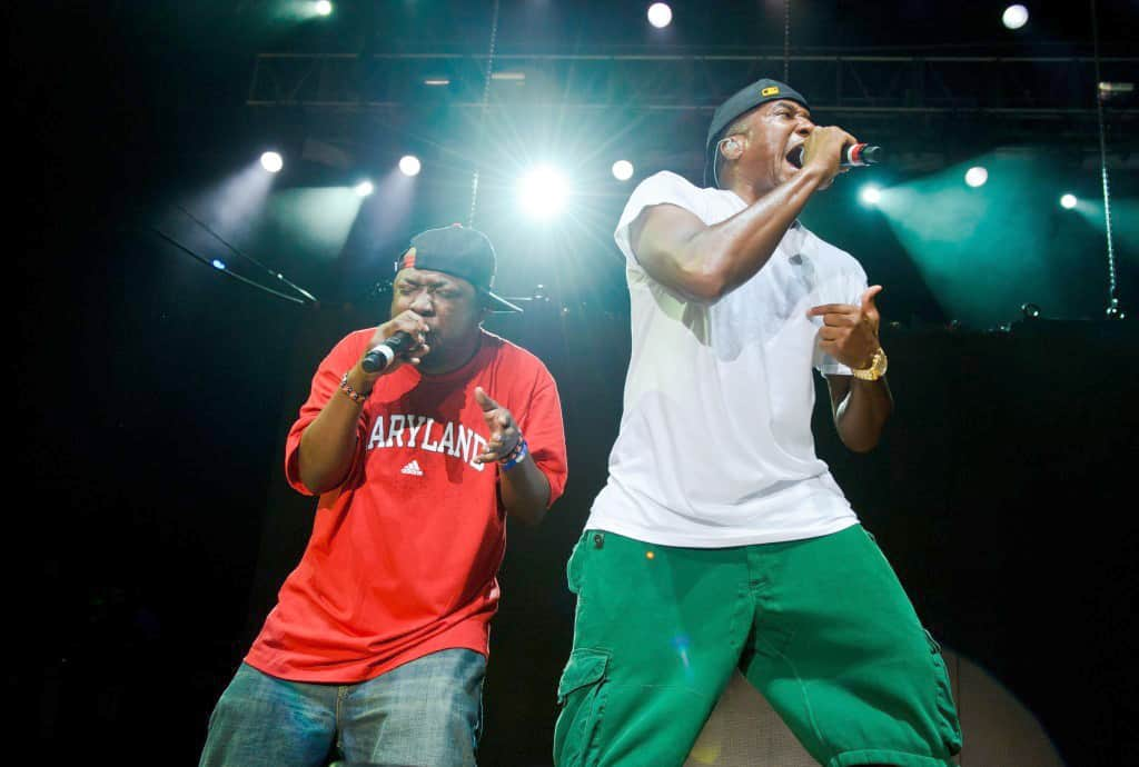 Phife Dawg, left, with Q-Tip, performing with A Tribe Called Quest in 2010.