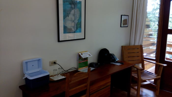 Desk in my room at Las Cruces Biological Station.