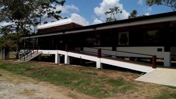 The museum at Finca 6.