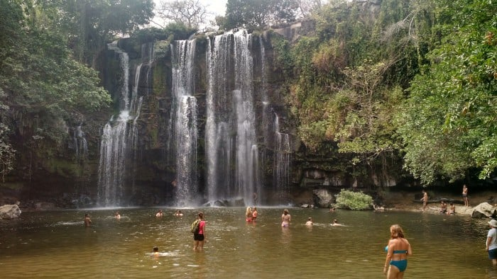 Llanos de Cortés waterfall