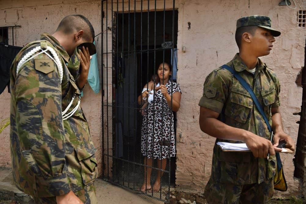 Brazilian soldiers, Zika