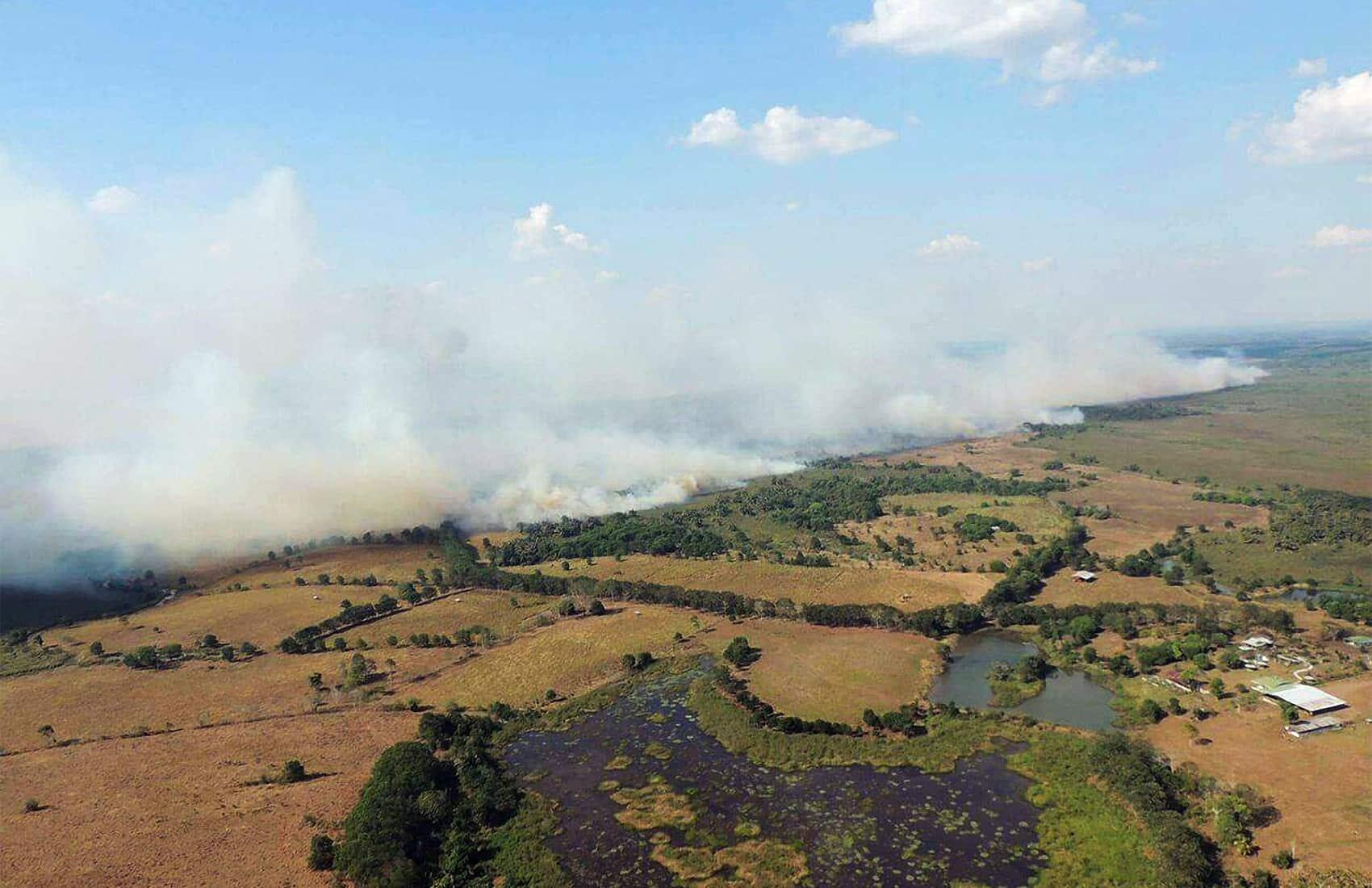 Wildfires at Corredor Fronterizo. April 2016
