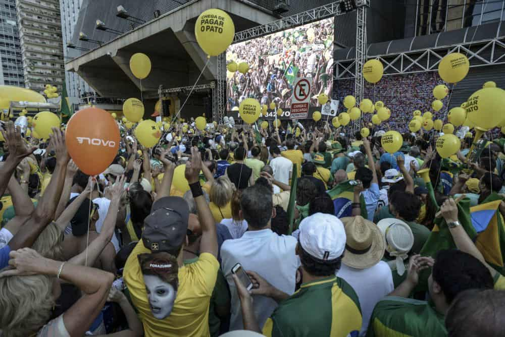 protest against Dilma Rousseff Brazil