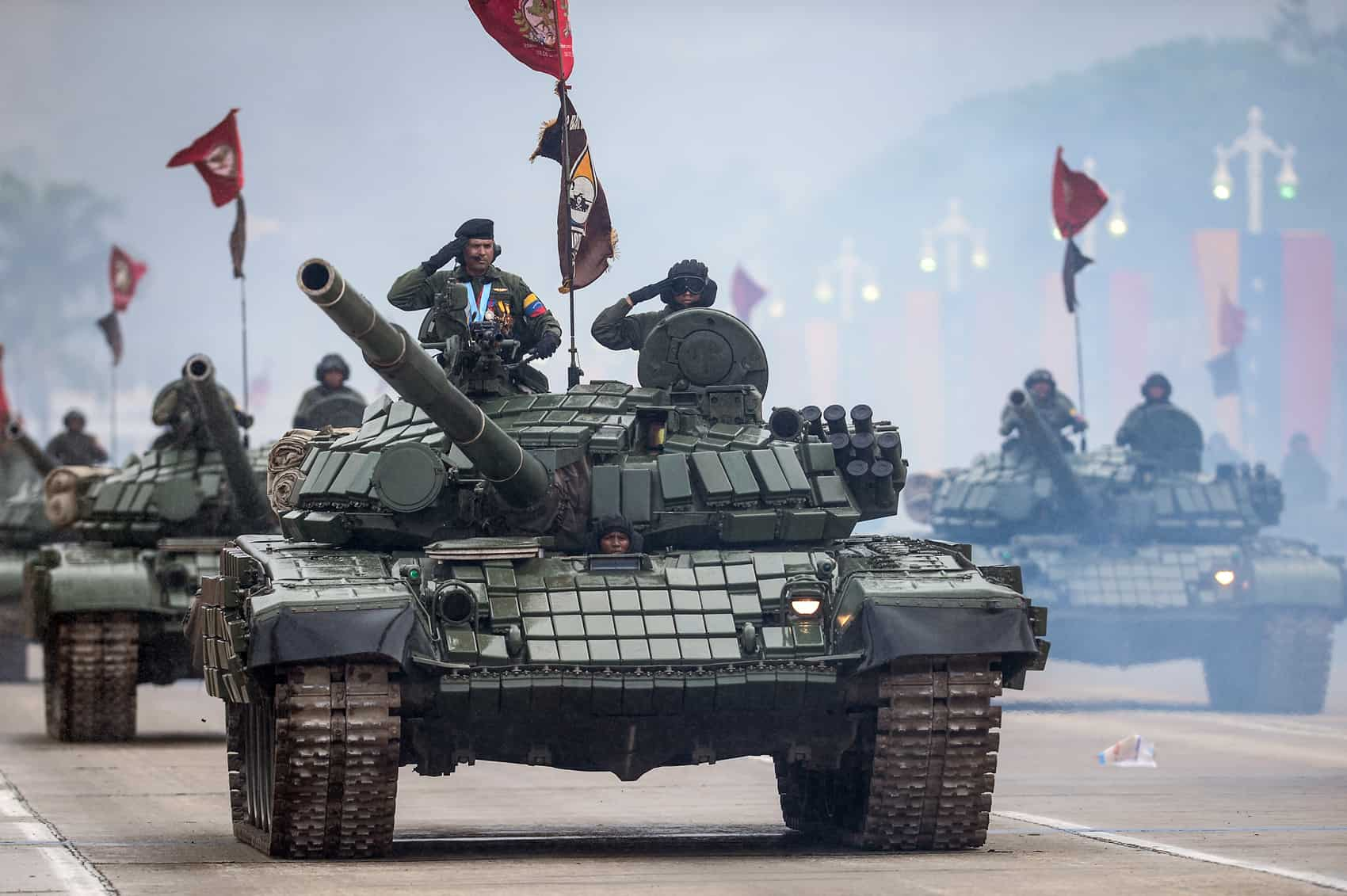 Russian-made T-72B tanks
