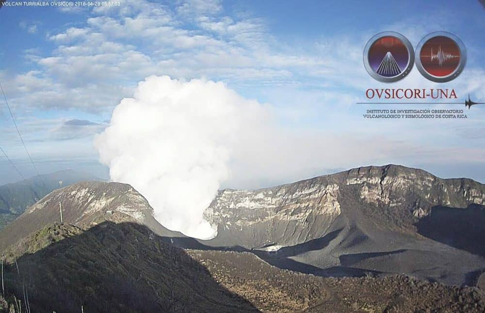 Turrialba Volcano, April 28, 2016