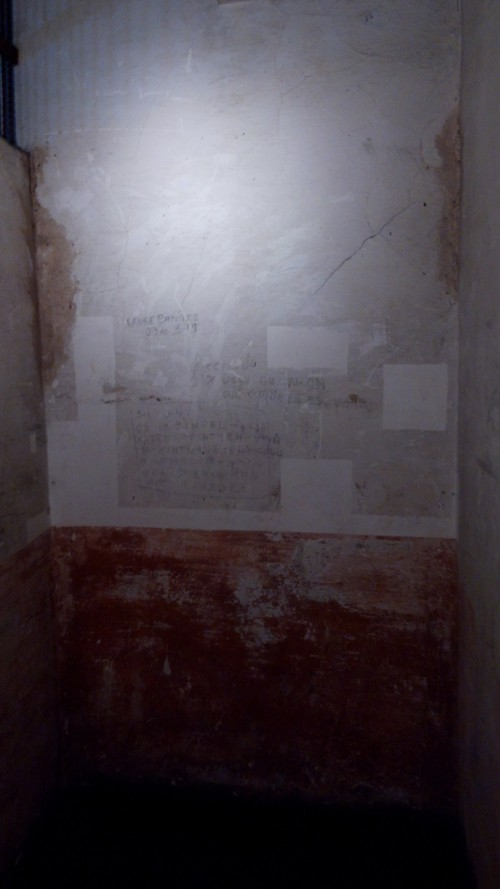 An old jail cell.