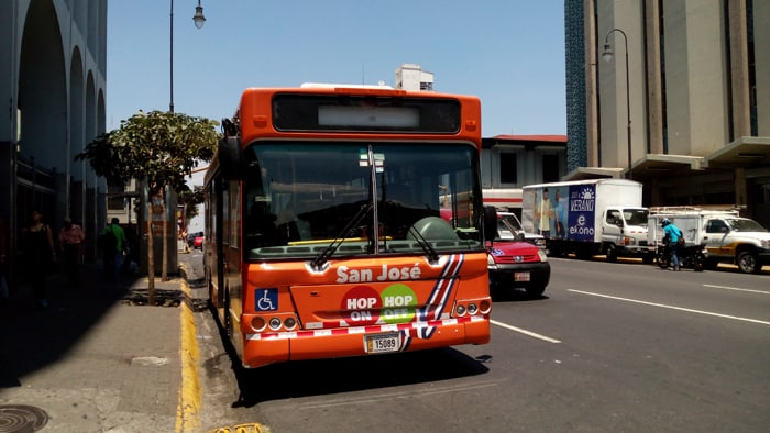 A San José bus tour offered by Costa Rica City Square Tours allows customers to hop on/hop off wherever they want.