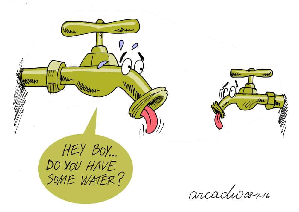 Aracdio cartoon: water shortages