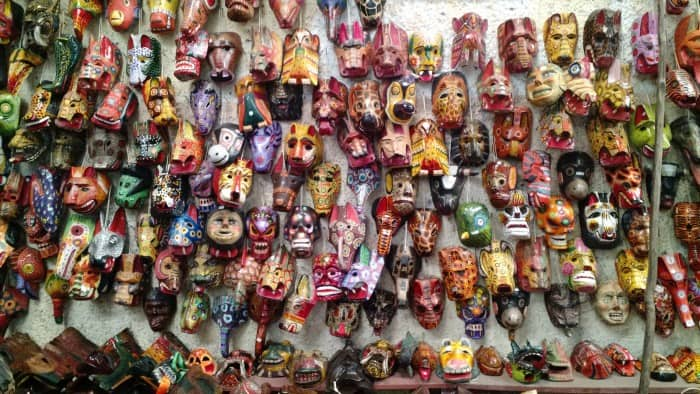 Antigua Guatemala masks