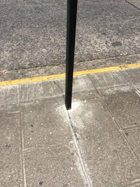 A post casts no shadow