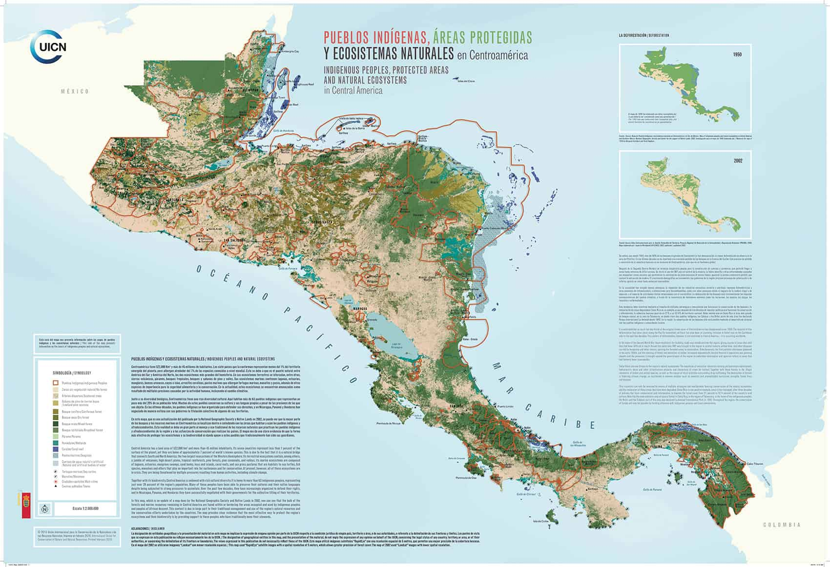 New Map Shows Importance Of Central America Indigenous Communities - Map of costa rica central america