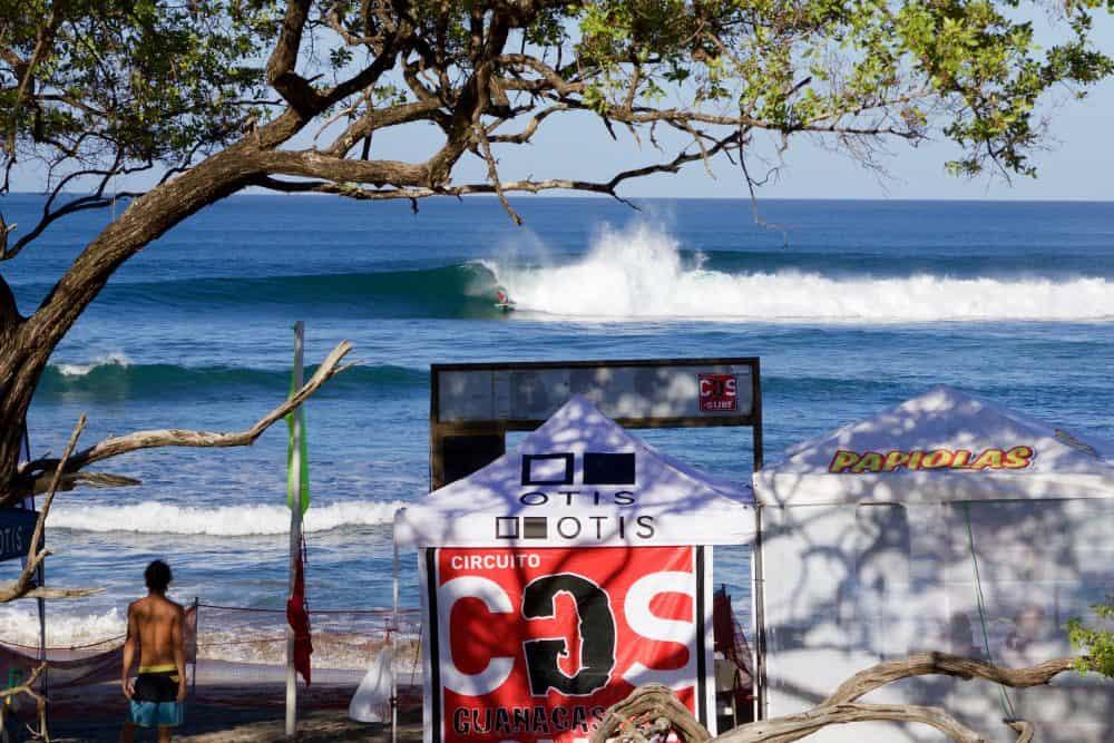 surfing at Playa Negra