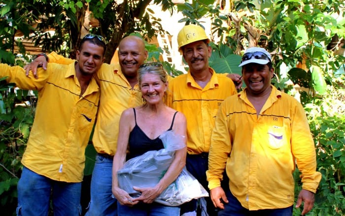 Vicki Coan of Sibu with friends from the Costa Rican Electricity Institute.