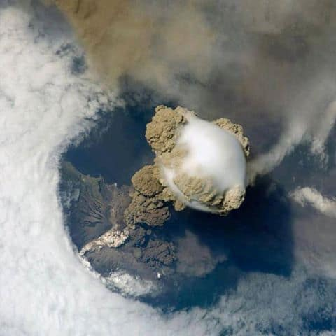 Sarychev Volcano (Kuril Islands, northeast of Japan