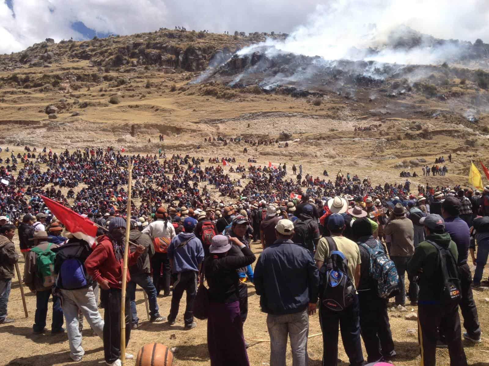 Protestors surround Las Bambas mine in Peru