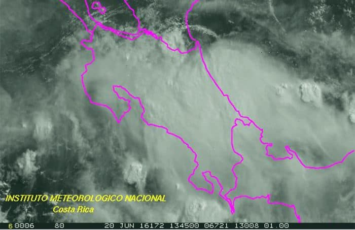 Low-pressure system over Costa Rica. June 20, 2016.