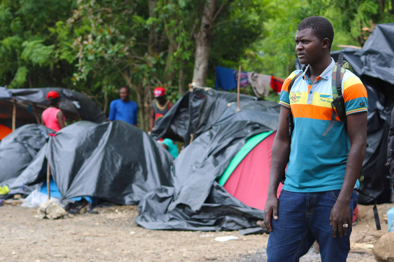 African and Haitian migrants at Peñas Blancas