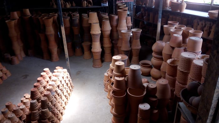 Lots and lots and lots of pots.