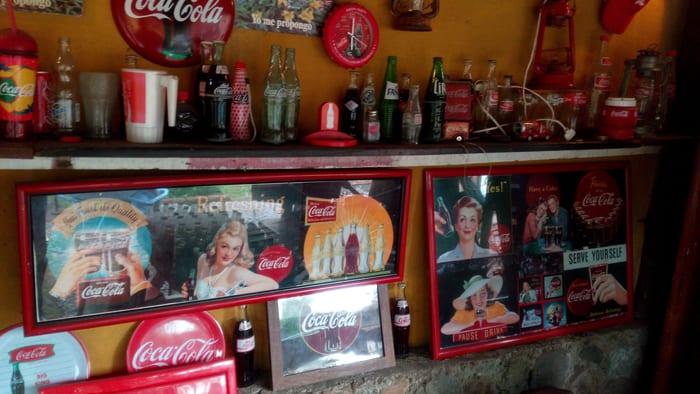 Old Coca-Cola ads.