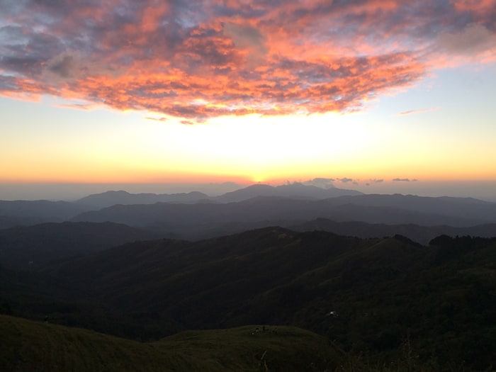 Sunset from the mountains south of Santa Ana.