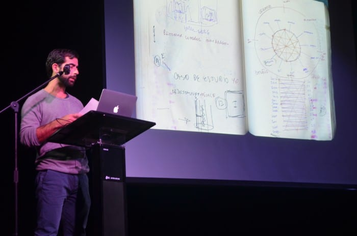 The Costa Rican artist Luciano Goizueta shows his ideation process.