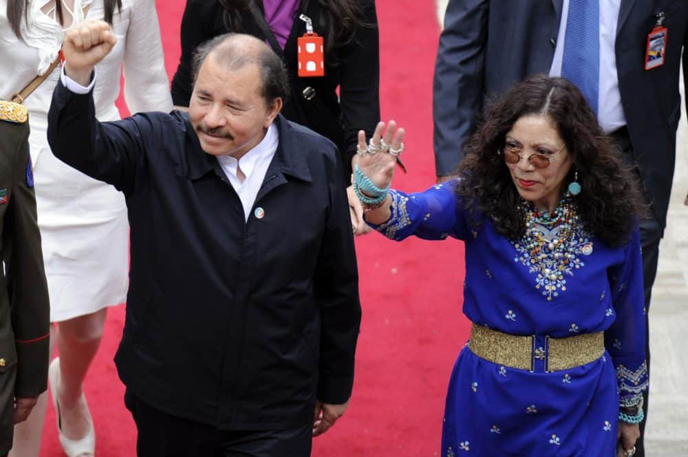 Rosario Murillo and Daniel Ortega