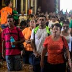 Pilgrims crawl on their knees to pray to Costa Rica's patron saint.