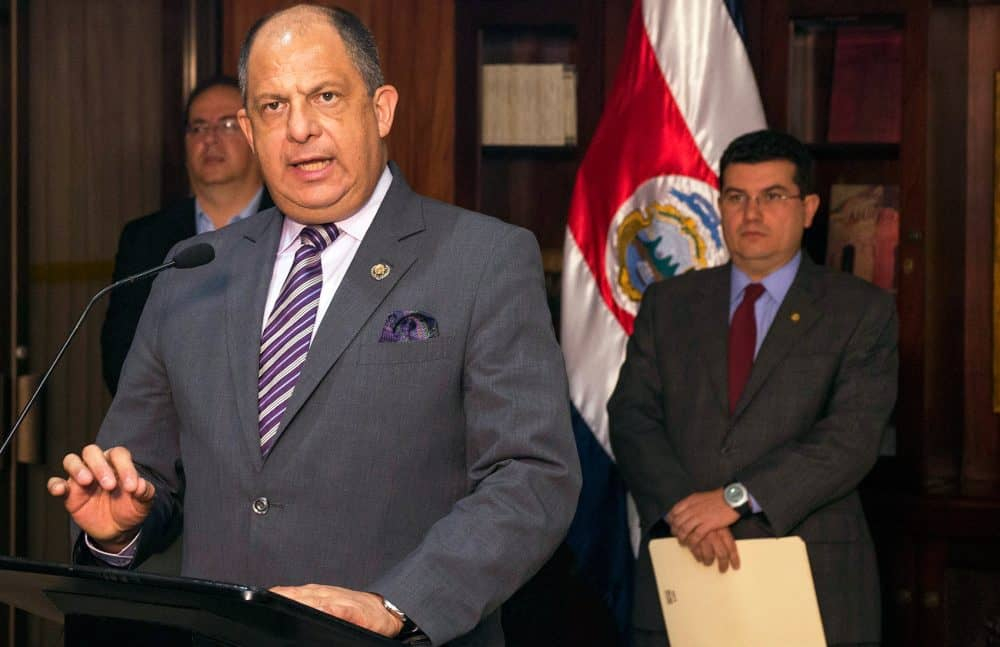 President Luis Guillermo Solís, Aug. 2016.