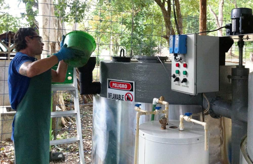 Cooking grease biodigester