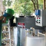 Restaurant grease turned cooking gas for Guanacaste police station