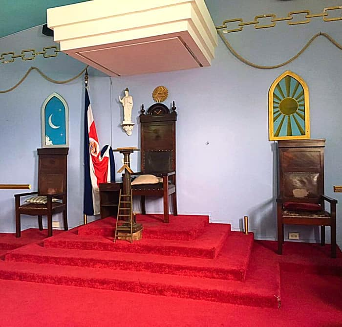 Inside the Masonic Temple.