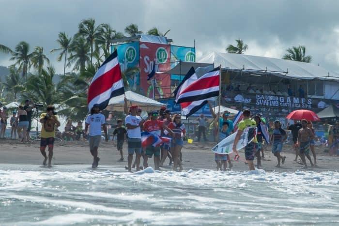 ISA World Surf Games Team Costa Rica