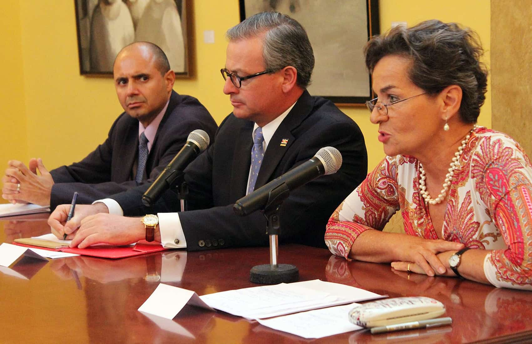 Christiana Figueres at the Foreign Ministry. Sept. 12, 2016.