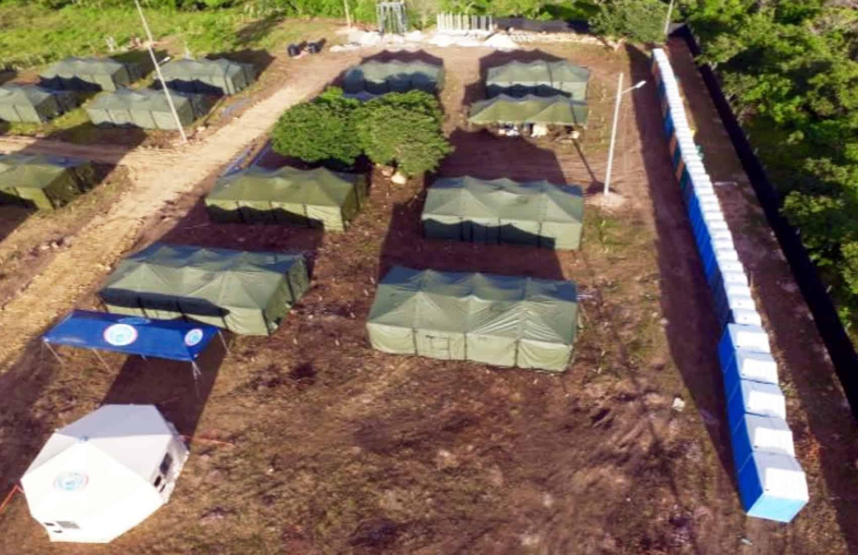 Migrants shelter in La Cruz, Guanacaste. Sept. 27 2016.