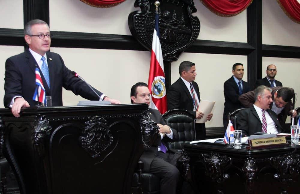 Foreign Minister Manuel González Sanz. Sept. 29, 2016.