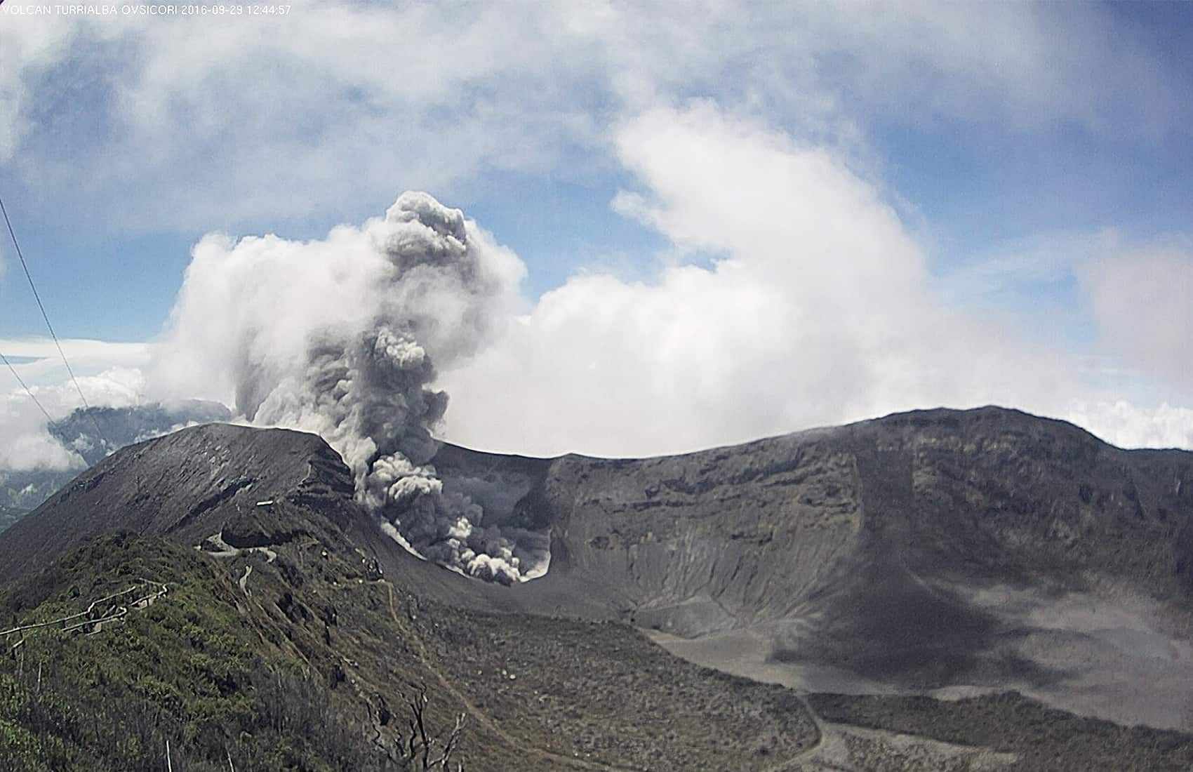 Turrialba Volcano, Sept. 29 2016.