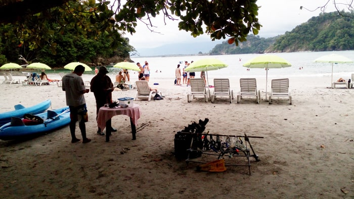 At Playa Biesanz, you can rent snorkeling equipment, kayaks or just a shaded beach chair.