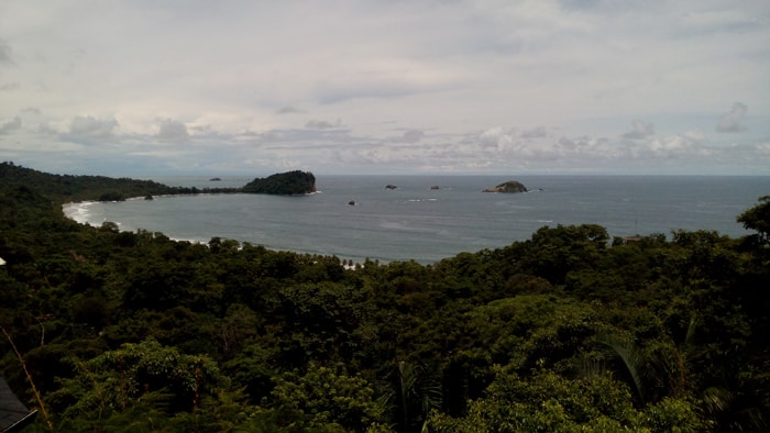 View of Punta Catedral in Manuel Antonio National Park from La Mansion Inn.